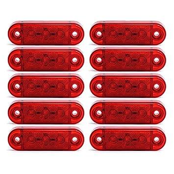 10 x 3 LED Begrenzunsleuchten Positionleuchten Seitenleuchten 12V 24V Volt f/ür LKW Bus Trailer Indikator Licht Seitenmarkierungsleuchte in 3 Farben Rot, Gelb, Weiss Gelb