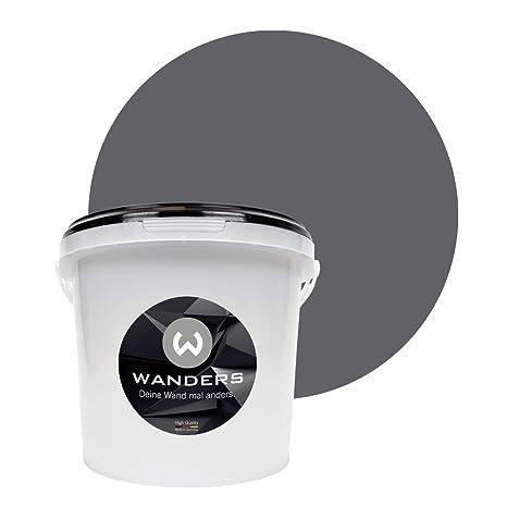 Wanders24 Pintura de pared pintura de pizarra mate (3 litros, Gris grafito) lavable, creativo, escribible, pintura de pizarrón