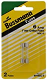 Bussman BP/MDL-6 6 Amp Glass Tube Time Delay Fuse 2 Count
