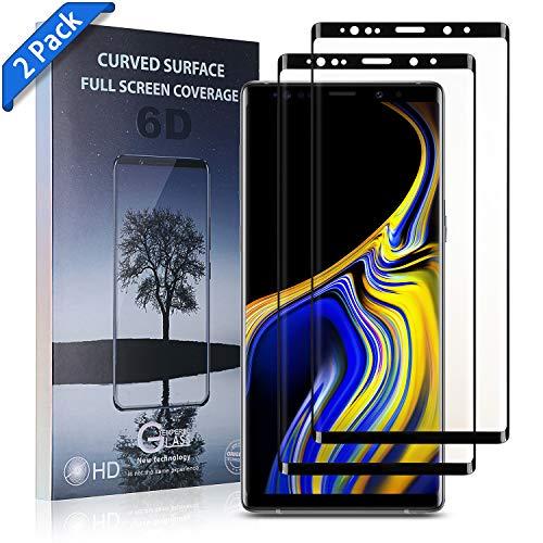 Note 9 Screen Protector [2-Pack], [Case-Friendly] Tempered Glass Screen Protector for Samsung Galaxy Note 9 - (Clear) ()