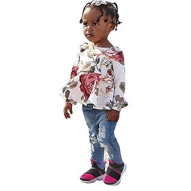 Amazon.com: Mysky - Conjunto de ropa vaquera para bebés y ...