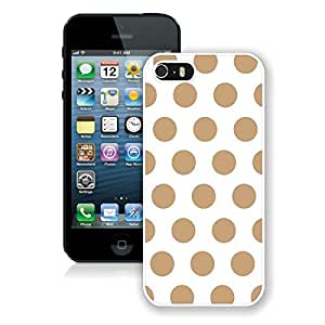 BINGO cheap Polka Dot White and Brown iPhone 5 5S Case White Cover