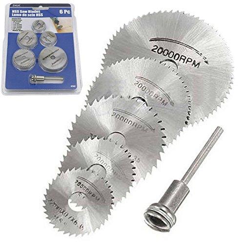 (6pc HSS Saw Blades Rotary Tool, Baowox 1/8