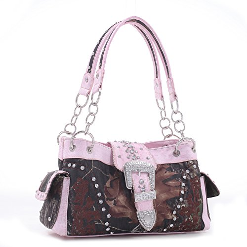 Licensed Mossy Oak Camo Purse With Pink trim - Pink Camo Realtree Diaper Bag