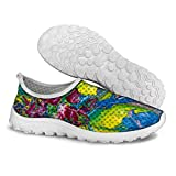FOR U DESIGNS Blue Women's Convenient Breathable Mesh Running Shoes Size 9