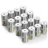EBL D Cell 10,000mAh Rechargeable Batteries, 16 Packs