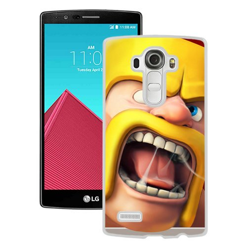 Lg Icon White (Clash Of Clans Ios Icon White Screen Cover Case Fit for LG G4,Popular Design)