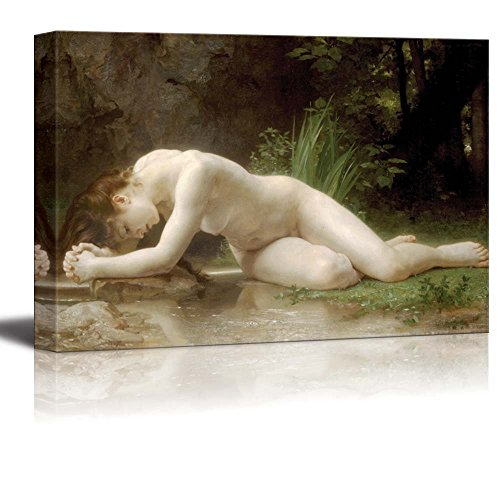 (Biblis by William Adolphe Bouguereau Giclee Canvas Prints Wrapped Gallery Wall Art | Stretched and Framed Ready to Hang - 24