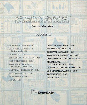 Statsoft Textbook Pdf