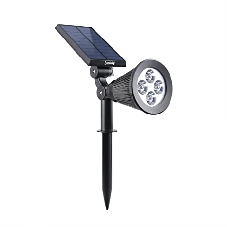 Lumisky Spiky W34 Proyector, Foco Solar con 4 LED para exterior, impermeable, luz