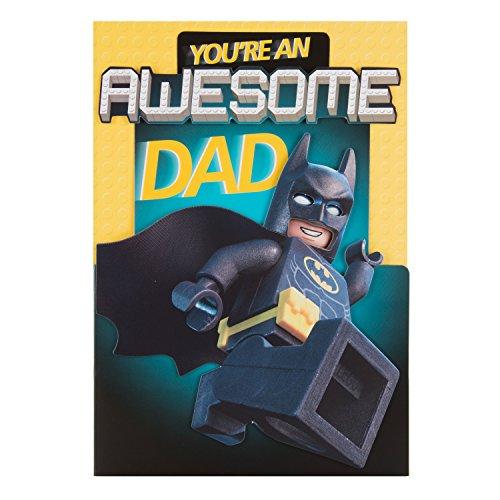 Hallmark Lego Batman Dad Père carte de fête 'Awesome'–Medium