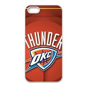 Oklahoma City Thunder NBA White Phone Case for iPhone 5S Case