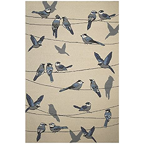 Harbor 4221 Ivory Birds On A Wire Size 5 Ft By 7 Ft 6 Inches