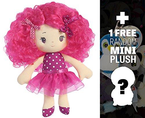 "Sophia: ~10"" Cutie Curls Plush Doll + 1 FREE Aurora Mini-Plush Charm Bundle [330061]"