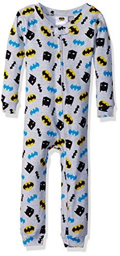 Batman Baby Boys Cotton Non-Footed Pajama, Hero Gray, 24M -