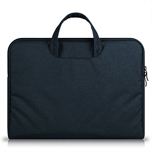 15.6 Laptop Case Black,MeiLiio Laptop Bag 15.6 inch/Protective Messenger/Business Zipper Briefcase with Accessories Pocket for Apple MacBook Air/Pro 15.6 inch All Laptop,Black by MeiLiio (Image #3)