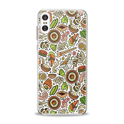 Lex Altern TPU Case for Motorola Moto G7 Power One P30 P40 Note G6 Z4 Sushi Seafood Slim fit Colorful Flexible Green Smooth Gift Tasty Design Cover Kitchen Lightweight Orange Print Clear Pasta Soft]()