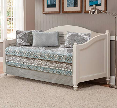 Floral Daybed - Linen Plus 5pc Daybed Cover Set Floral Aqua Blue Taupe White New