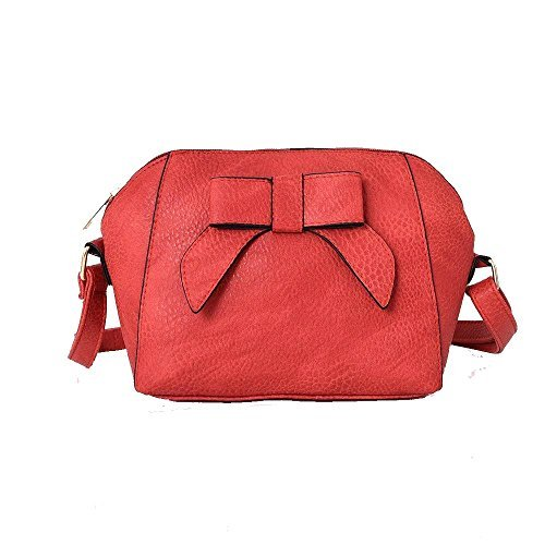 Adornment Bow Bag Red Diva Crossbody Beige for Women Haute fTqUSU