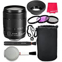 Canon EF-S 18-135mm f/3.5-5.6 IS USM Lens For Canon T3 T5 T6 T3i T5i T6i T6s 70D 60D 80D 700D 750D 600D 7D Mark II DSLR Cameras + Complete Accessory Kit - International Version (No Warranty)