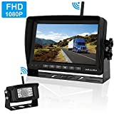 FHD 1080P Digital Wireless Backup Camera and Monitor Kit High-Speed Observation System for RVs/Motorhomes/Trucks/Trailers with 7