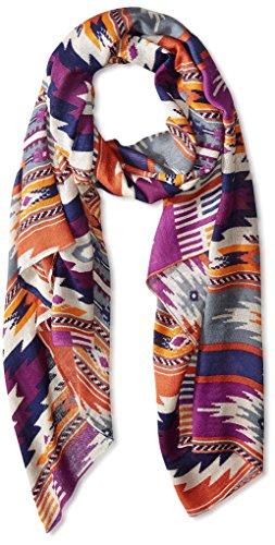 Theodora & Callum Women's Cheyenne Wearable Art Blanket Scarf, Orange Multi by Theodora & Callum