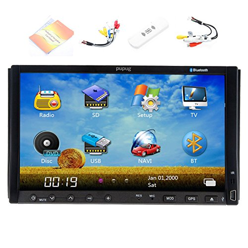 Pupug 3G Internet Dongle+7 Inch Double 2 Din Car DVD Player