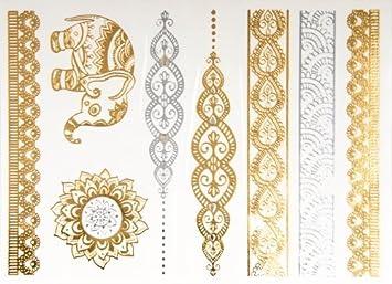 Reloj de estilo - de tatuaje tatuajes de soporte de metal: Amazon.es: Hogar