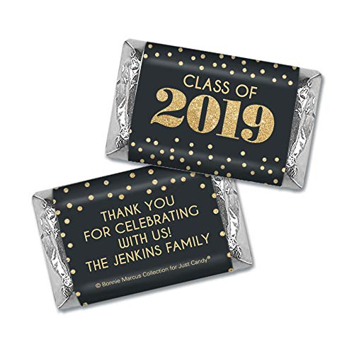 Class of 2019 Graduation Personalized Wrappers for Hershey's Miniatures Candy (100 Count) - Wrappers Only