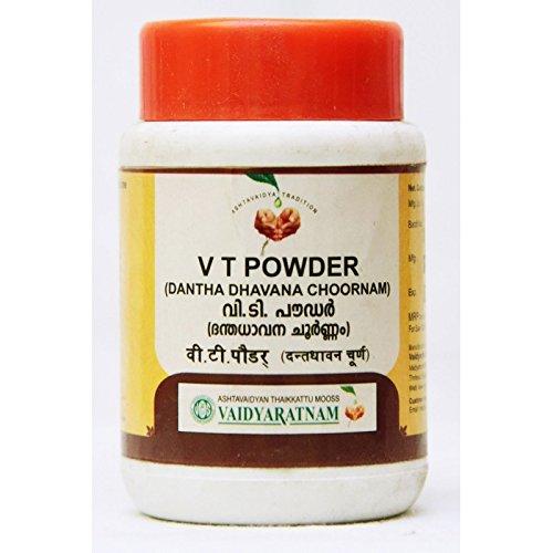 アトム著作権アルカトラズ島Ayurvedic Vaidyaratnam Tooth Powder ( V T Powder )