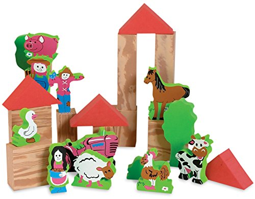 Edushape My Soft World Farm Block Set, 29 Piece