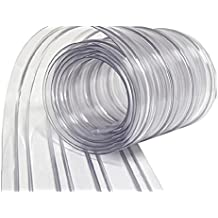 Wide Ribbed PVC Plastic Strip Curtain for Walk In Coolers, Warehouse Doors and Clean Rooms