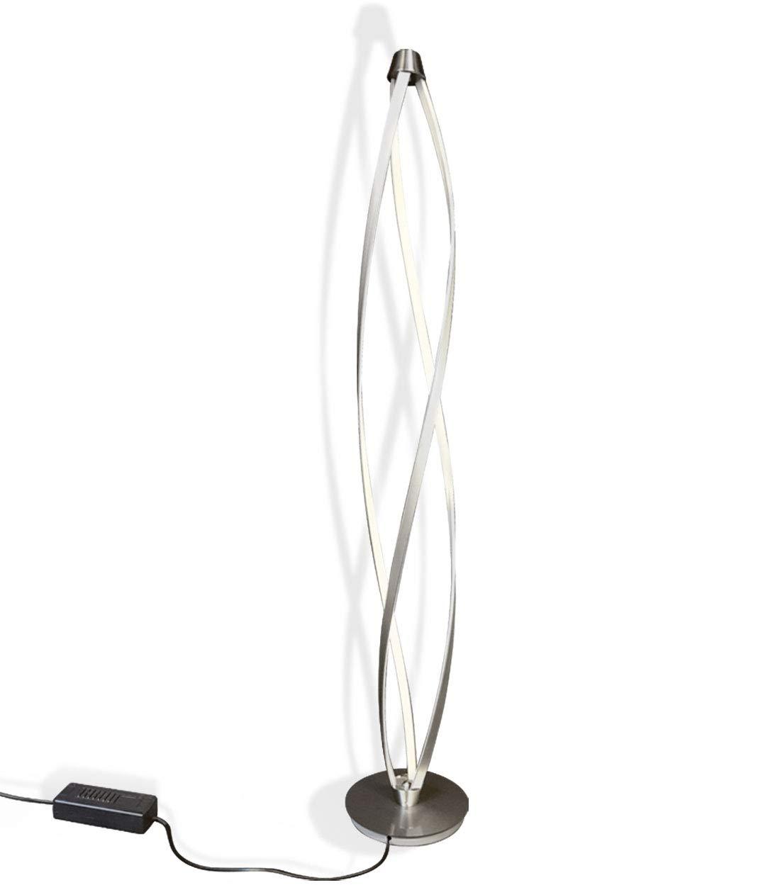 LED Stehleuchte Standlampe StehLampe Bodenlampe Bogenlampe Wohnzimmer spiralförmig dimmbar neues Design 30x140cm 36W warm-weiß