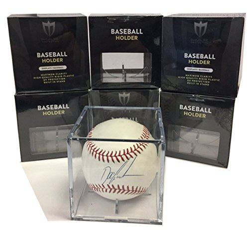 - (6) Max Pro Baseball Ultra Clear Square Cube Holders with 98% UV Protection