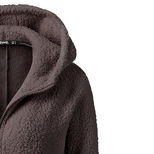 Cotton Brown Size Warm donna Giacche Inverno Fossen con Abbigliamento Plus cappuccio Vendita Felpe Zqt7Tqx