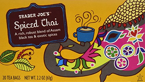 Trader Joe's Spiced Chai (A Rich, Robust Blend of Assam Black Tea & Exotic Spices), 20 Tea Bags (2-Pack)