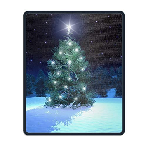 Christmas Tree Mouse Pad, Premium-Textured Mouse Mat Pad, Non-Slip Rubber Base Mousepad for Laptop, Computer & PC, 11.8 x 9.8 inch