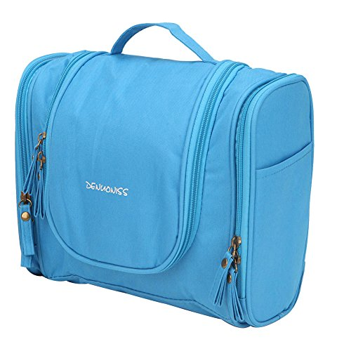 Ideal Shave Kit - Freeprint Water-resistant Hanging Toiletry Bag Dopp Kit Travel Cosmetic Makeup Bag for Men or Women, Blue