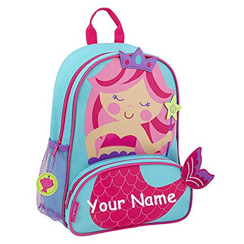 Stephen Joseph Personalized Princess Mermaid Sidekick Backpack with Custom Name]()