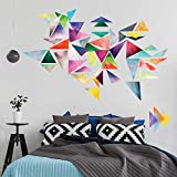Chromantics Watercolor Triangle Wall Decal Kit - Create Your Own Geometric Wall Mural