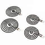 """MP22YA Electric Range Burner Element Unit Set - 2 pcs MP15YA 6"""" and 2 pcs MP21YA 8"""""""
