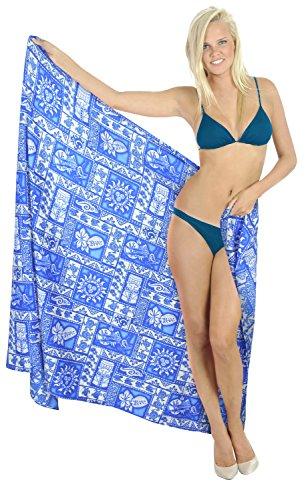 solido pareo 78x39 da cucita bagno scuro m343 costume rayon LA pollici LEELA coprire sarong Blu xaWvEWz