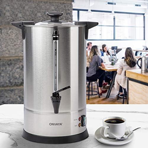 ONVAYA® Cafetera de filtro de gastro 6,75L | Dispensador de café para grandes cantidades | Cafetera industrial | Cafetera con elemento calefactor: Amazon.es: Hogar