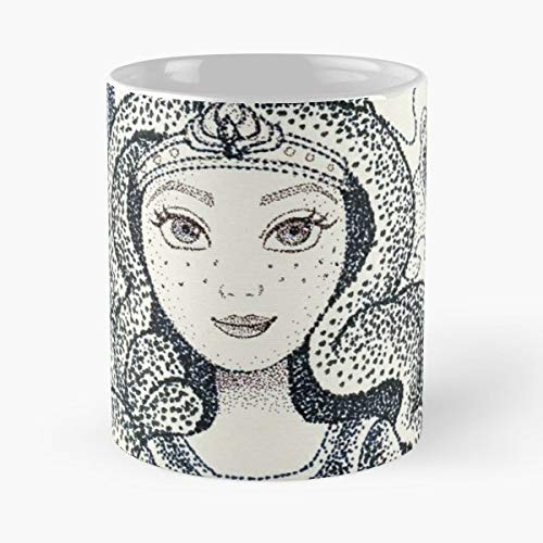 (Brave Princess Cartoon Animated - Ceramic Novelty Mugs 11 Oz, Funny Gift)