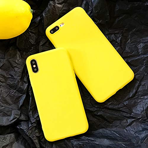MIIA Fitted Cases - Case for iPhone 6 6s 7 8 Plus X Xs Xr Xs Max Lemon Yellow Candy Colors TPU Soft Protector Phone Back Cover Case Shell - for iPhone XR - Women Shirt Avada Skirt Heat Polo Band ()