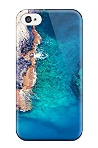 Excellent Iphone 4/4s Case Tpu Cover Back Skin Protector Sea Beach Stone