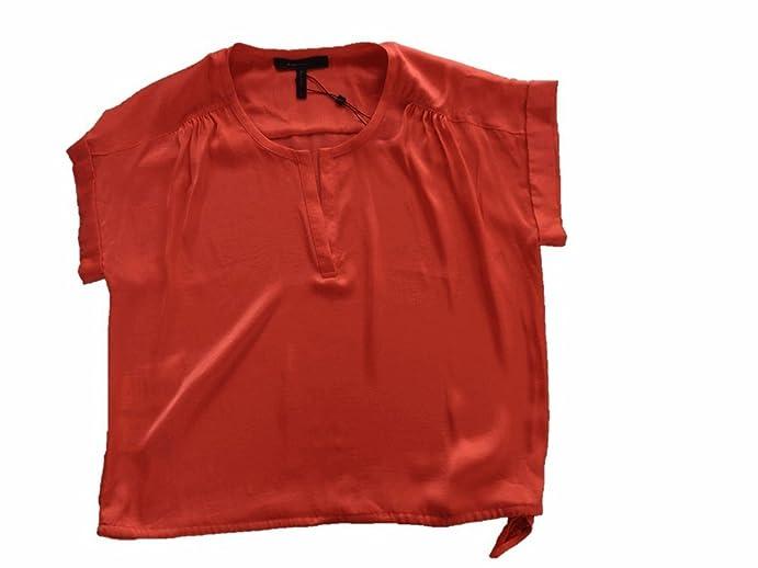 Amazon Com Bcbgmaxazria Bcbg Womens Coral Silk Dressy Blouse Small