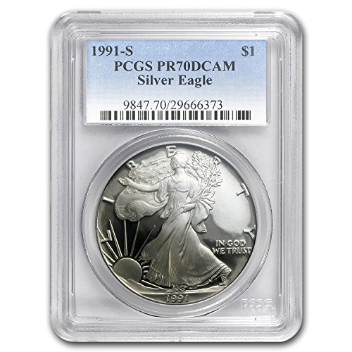 1991 S Proof Silver American Eagle PR-70 PCGS (Registry Set) PR-70