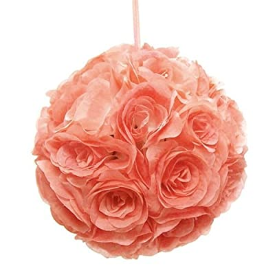 Ben Collection Fabric Artificial Flowers Silk Rose Pomander Wedding Party Home Decoration Kissing Ball Trendy Color Simulation Flower