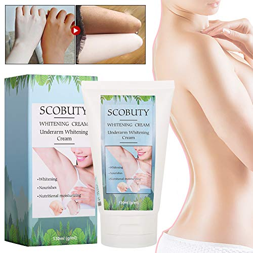 Whitening Cream,Underarm Whitening Cream,Natural Lightening Cream,Effective for Lightening & Brightening Armpit,Knees,Elbows,Sensitive & Private Areas,Underarm Repair Whitening Cream